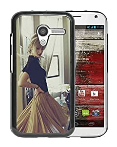 Moto X Case,100% brand new Taylor Swift Life Style Black Case For Moto X