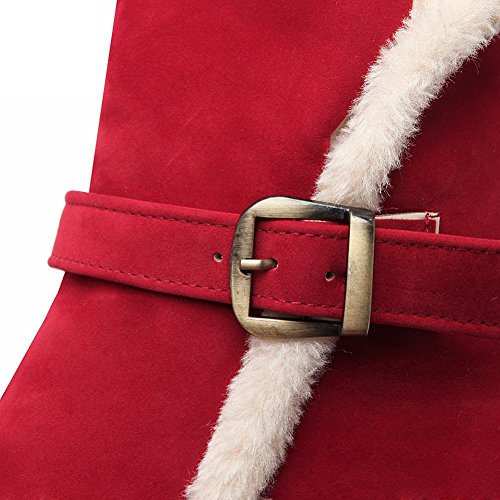 Draagarm Dames Gesp Comfort Warm Casual Wintermode Vlak Snowboots Rood