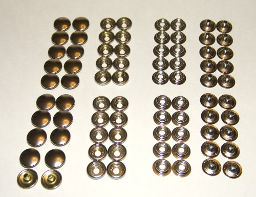 Snap Set, Nickle Plated Brass, 80 Pieces, Marine Grade Shipped from The USA! ()