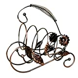 Ireav Wine Bottle Stand Holder Suspended Wine Rack Whiskey Rack Iron Rack Steel Link Chain Bottle Holder Bar Accessories