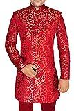 INMONARCH Mens Crimson 2 Pc Indo Western Groomsman Prom IN565S46 46 Short Crimson
