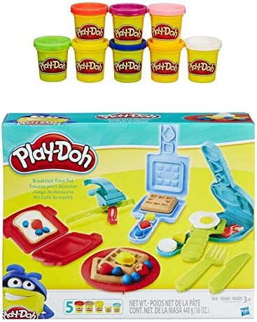 Play-Doh Breakfast Time Playset + Play-Doh Rainbow Starter Pack ...