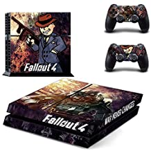 Fallout 4 PS4 Cover Protection Decal Skin Sticker For Playstation 4 Console + 2 Controllers #1
