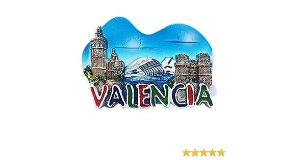 MUYU Magnet 3D Valencia España imán para Nevera, hogar y Cocina ...