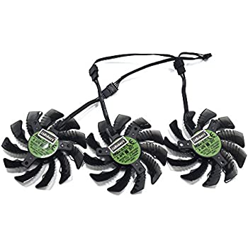 inRobert 78MM T128010SU 0.35A Cooling Fan For Gigabyte GTX 1080 Ti Gaming/GTX 1070 G1/AORUS GTX 1060/GTX 980 TI G1 Graphic Card