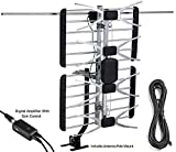 pingbingding Outdoor Antenna Digital HDTV Antenna Amplified Antenna with Mounting Pole 150 Mile Long Range High Gain For UHF / VHF, 40FT Coaxial Cable