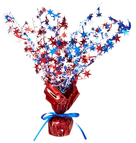 Star Gleam 'N Burst Centerpiece (red, white, blue) Party Accessory  (1 count) (1/Pkg) -