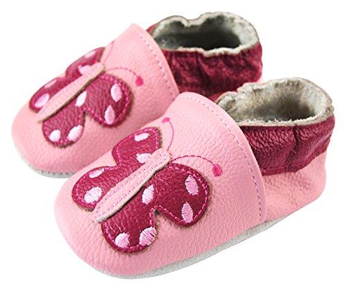 Babyschuhe Axy Krabbelschuhe Lederschuhe Baby Kindergartenschuhe Lauflernschuhe Schmetterling IZqFg4