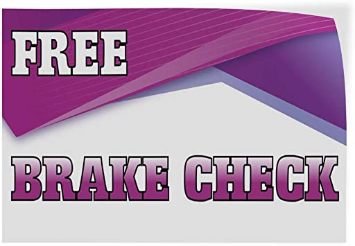 Decal Sticker Multiple Sizes Brake Repair Auto Car Vehicle Style U Automotive Brake Repair Outdoor Store Sign White Set of 2 54inx36in
