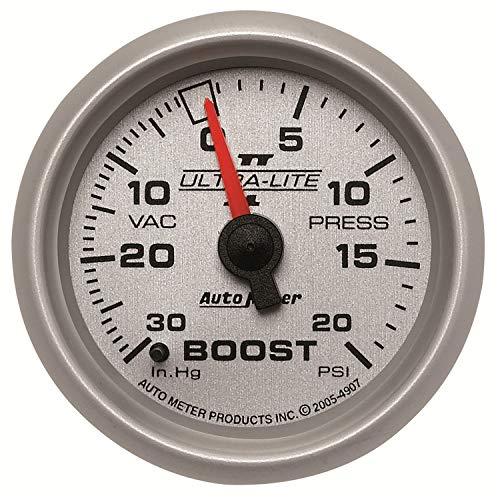 (Autometer Ultra-Lite II 52mm 30 in Hg/20 psi Mechanical Boost/Vacuum Gauge (am4907))