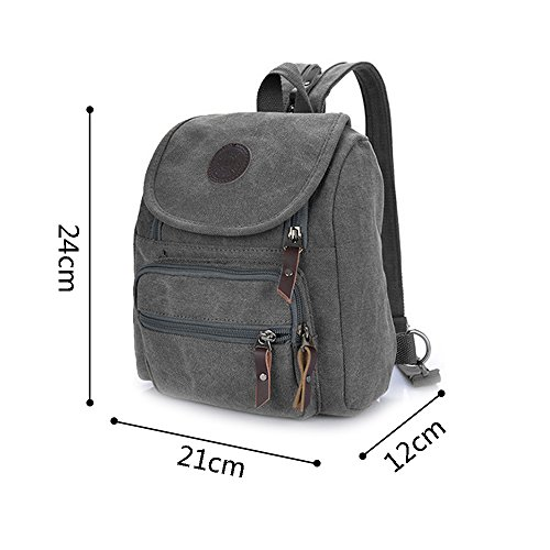 Body Zipper Pocket Small Bag Shoulder Grey Cross Multi Backpack Hiigoo 5X6EqwE