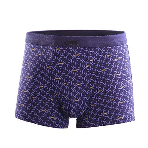 La De Los Hombres Fibra De Bambú Ropa Interior Deporte Boxer Ultra Suave (3-Pack) Purple