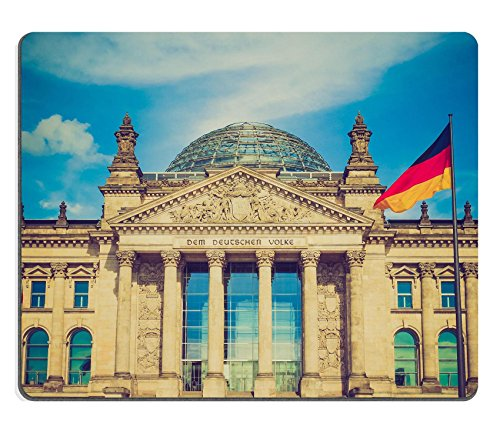 MSD Natural Rubber Gaming Mousepad Vintage looking Reichstag German houses of parliament in Berlin Germany IMAGE - Dome Reichstag Berlin