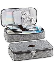 Homecube Etui voor pennen, potloden, stiften en overige schoolspullen 22 * 11 * 5.5cm (Grijs)