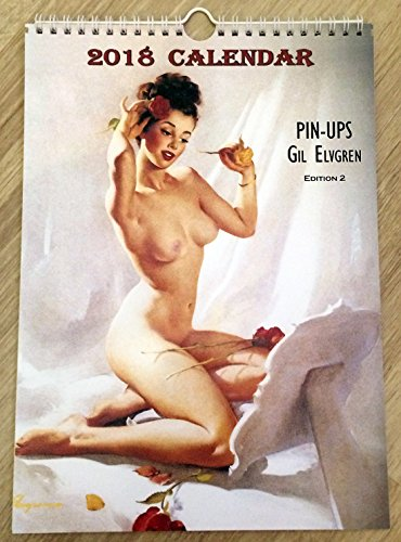 Gil Elvgren Wall Calendar 2018 Pin Up Glam Sexy Girl Retro Vintage A4 Edit - Retro Vintage Nude