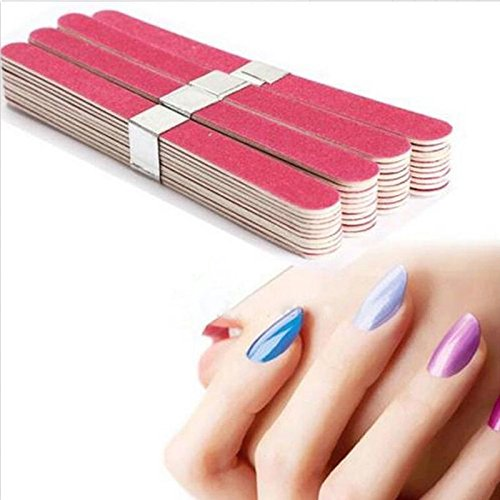 Manicure Tips Acrylic 10pcs Pro Nail Art Sanding Files Polish Block Buffer ()