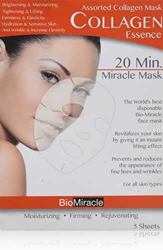 BioMiracle 20 Min. Rejuvenating Miracle Mask - Assorted Pack - 5 Sheets