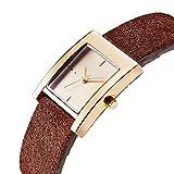 Women Hole Buckle Leather Quartz Watch Lady Luxury Antique Stylish Square Dress Watch