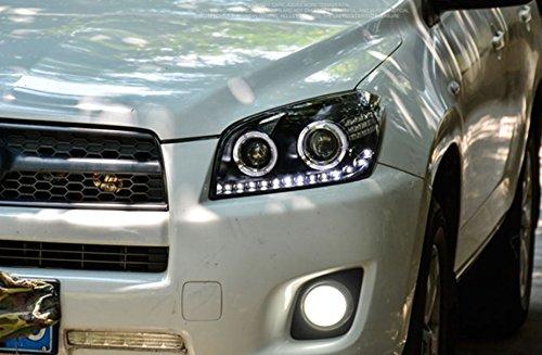 GOWE Car Styling Car Styling For toyota RAV4 headlights 2009-13 For RAV4 LED head lamp Angel eye led DRL front light Bi-Xenon Color Temperature:6000K Wattage:35W 2