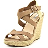 Jessica Simpson Jamey Women Open Toe Leather Wedge Sandal