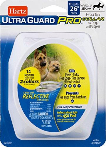HARTZ Ultra Guard Pro Reflective Dog Collar, 2 Pack