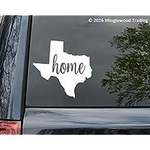 "Texas State vinyl decal sticker 6"" x 5.75"" Home Lone Star Texan"