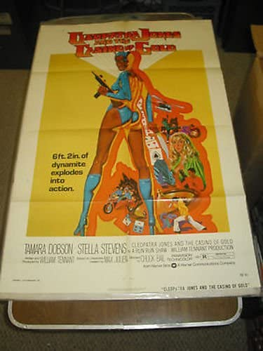 Cleopatra Jones A T Casino Of Gold Orig One Sheet Movie Poster Tamara Dobson At Amazon S Entertainment Collectibles Store