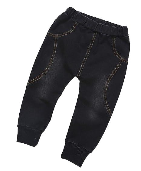 e4ddc93c90d2 Toddler Kids Baby Soft Jeans,Boys Elastic Waist Full Length Harem Pants