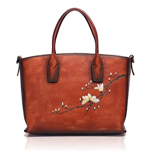 APHISON Designer Soft Leather Totes Handbags for Women, Ladies Satchels Shoulder Bags 8205