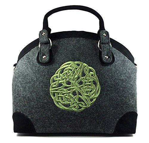 Celtic Weave Luxury Handbag, Imported from Ireland (Yo Self Treat Tote)