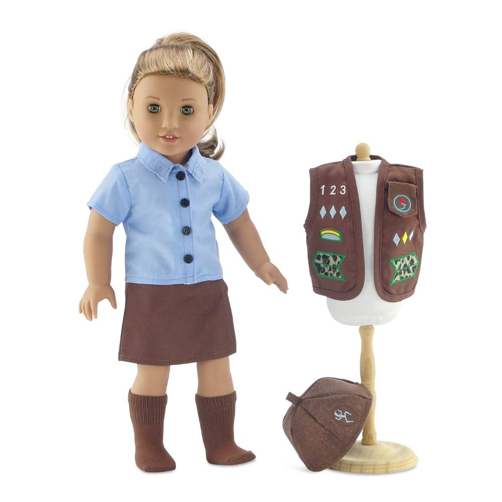 8e89c354ef09 Amazon.com: 18 Inch Doll Clothes Like Brownie Girl's Club Outfit | Fits 18