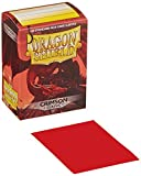 Dragon Shield Deck Protective Sleeves for Gaming Cards, Standard Size (100 sleeves), Crimson
