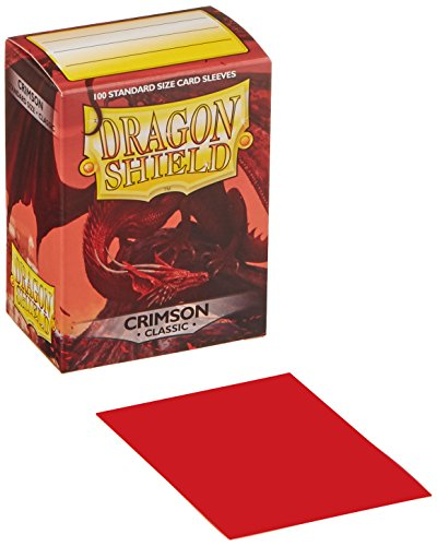 Dragon Shield Deck Protective Sleeves for Gaming Cards, Standard Size (100 sleeves), Crimson by Dragon Shield