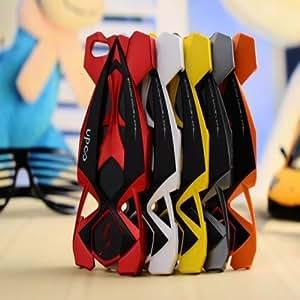 El patrón hueco del coche de deportes de la cubierta de plástico duro caso para el iPhone 5 Opción: Naranja