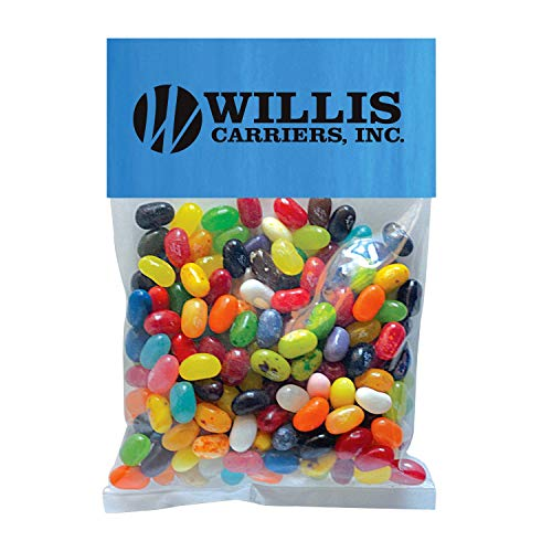Candy Gift Pack-Jelly Bellys with CUSTOMIZED Business Card Magnet in Large Header Pack- BULK Quantities-100, 250, 500 or…