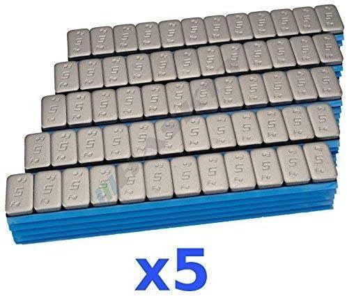 5 X 6KG 30KG Premium Contrapesos 12x5g Pesos Adhesivos Tira Adhesiva 500 Perno