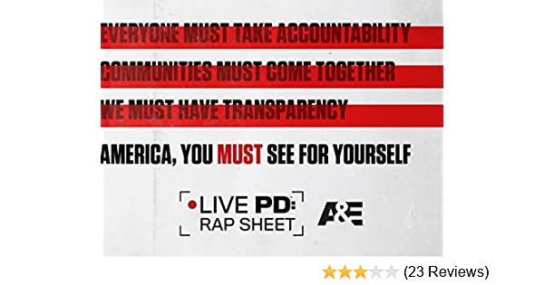 Amazon com: Watch LIVE PD: Rap Sheet Season 1 | Prime Video