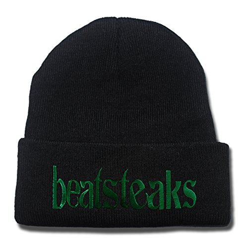 JRICK Beatsteaks Band Logo Beanie Fashion Unisex Embroidery Beanies Skullies Knitted Hats Skull Caps - (Skully And Green Demon)