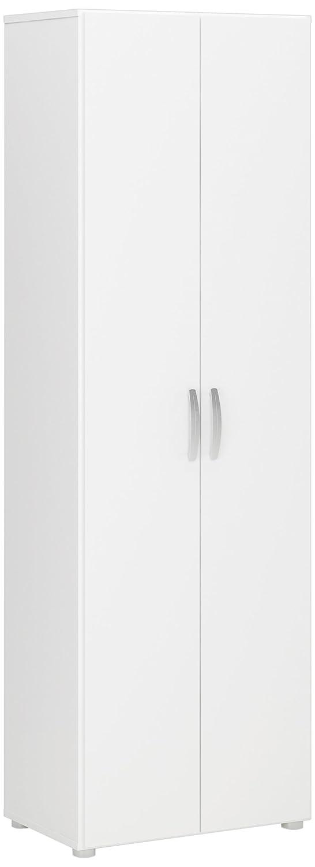 Demeyere 305541 Cobi Armoire Multifonctions avec 2 Portes-3 Rayons Panneau de Particules Blanc 68 x 34 x 175 cm