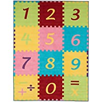 Ottomanson Garden Collection Numbers Math Design Children Nursery KidS Play Area Rug, 33 X50, Multicolor
