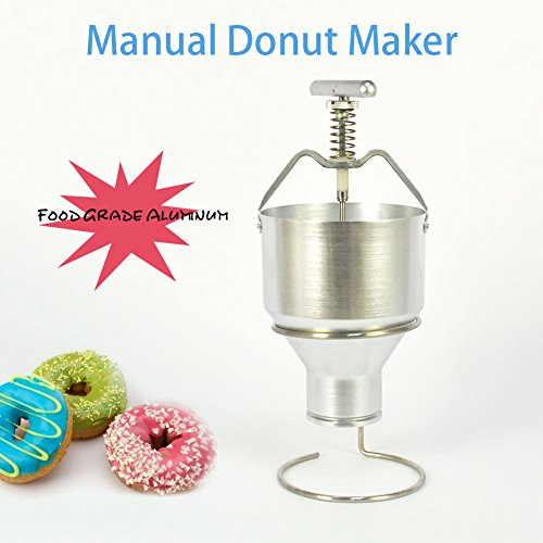 35mm With 6 Adjustment Manual Donut Depositor Dropper Plunger Dough Batter Dispenser Hopper by Taishi