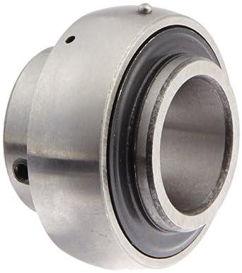 """UC205-16 Axle Insert Mounted Bearing, 1"""" Inside Diameter, Set screw lock, Steel, Inch"""