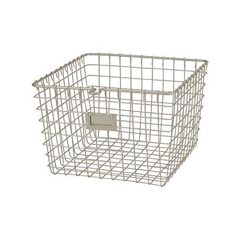 (Spectrum Diversified Wire Storage Basket, Medium, Satin Nickel)
