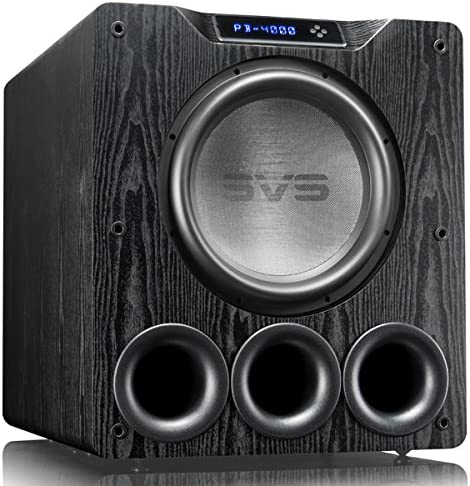 SVS PB-4000 Subwoofer Black Ash 13.5-inch Driver, 1,200-Watts RMS, Ported Cabinet, App Control