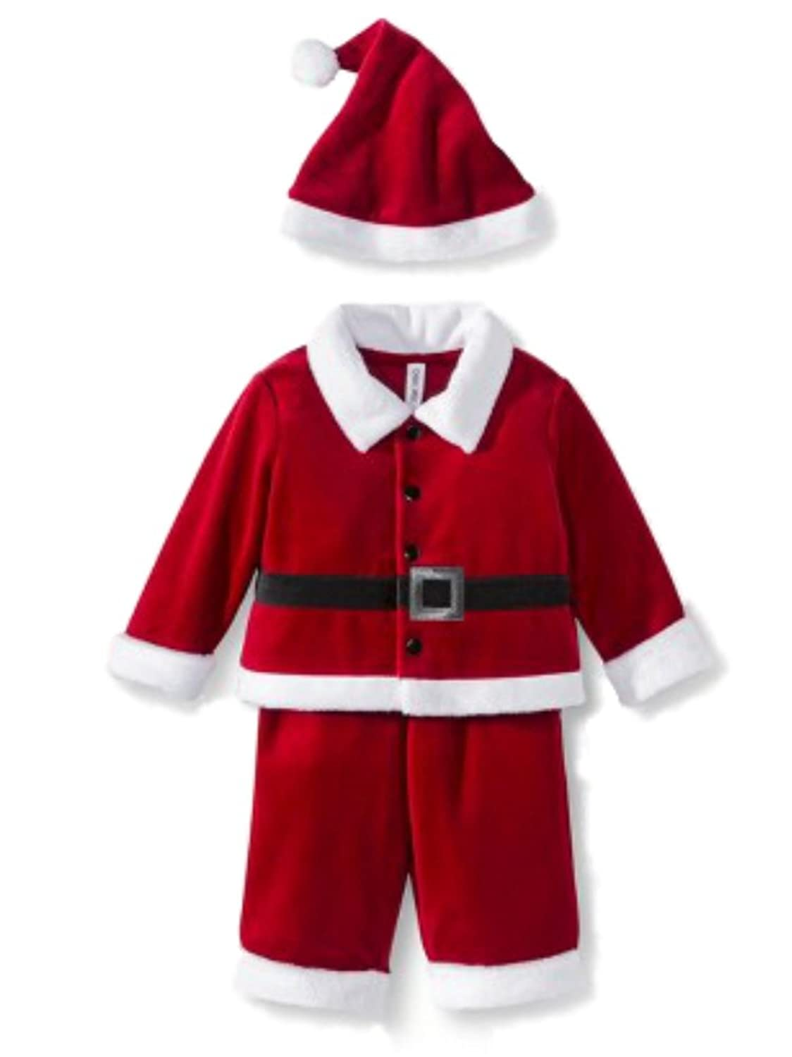 amazoncom cherokee infant boys girls red velvet santa suit christmas hat clothing