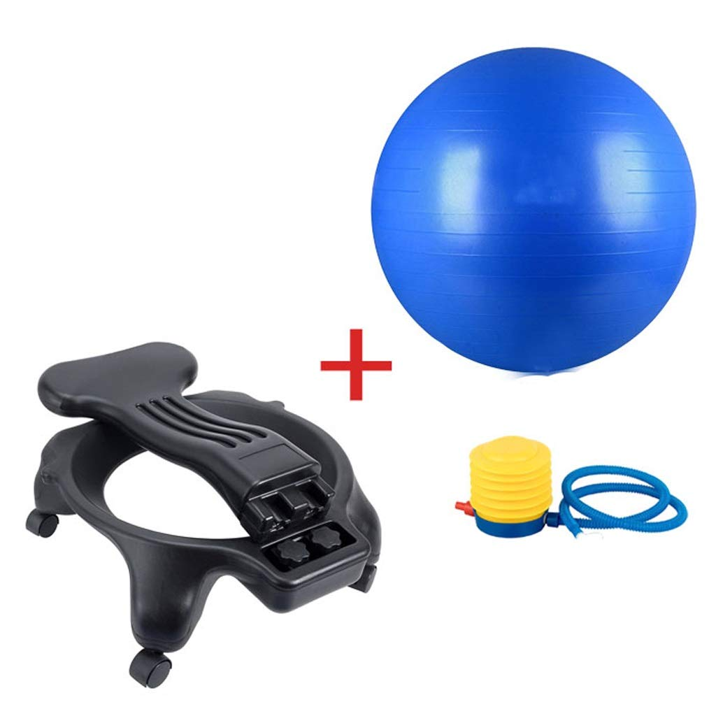 TMY Sitting Posture Correction Ball Chair Yoga Ball Chair Office Chair Fitness Shaping Yoga Ball Chair Pregnant (Color : Blue) by TMY