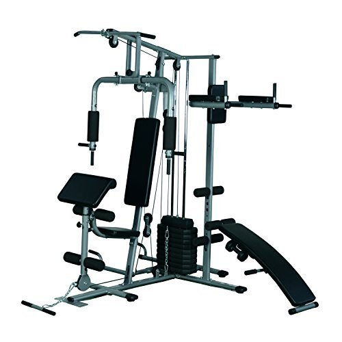 Tidyard Complete Home Gym System All-in-One Fitness Weight Training Exercise Workout Station Equipment Gym Strength Machine Weightlifting and Total Body Building