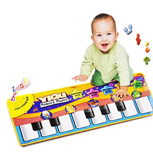 Musical MatTefamore Touch Play Keyboard Musical Gym Carpet Mat Kids Gift