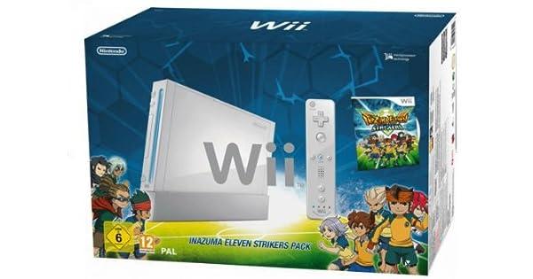Nintendo Wii - Consola HW + Inazuma Eleven Strikers, Color Blanco: Amazon.es: Videojuegos