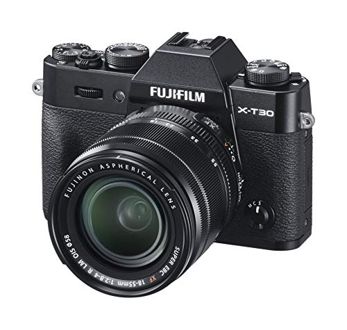 Fujifilm X-T30 with 18-55mm lens kit, Mirrorless Camera Black